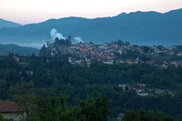 Barga from Albiano, pre-dawn