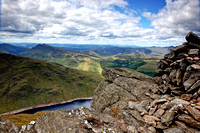 Loch Sloy from Ben Vorlich Summit